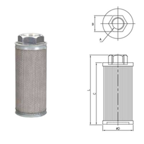 MFCS SUS304 Stainless Suction Filters